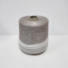 Bijoux, Холодный бежево-сиреневый с серебром, вискоза с люрексом, 3800 м в 100 г