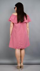 Бали. Модное платье с воланом большие размеры. Красная клетка.