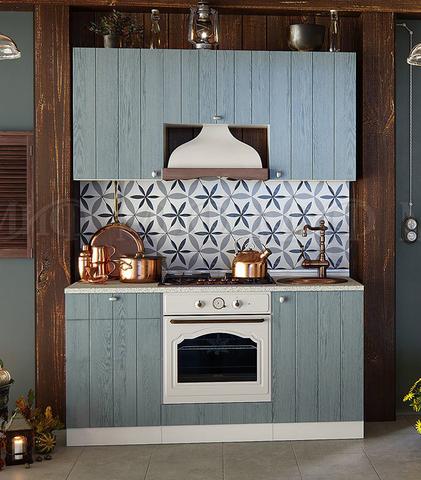 Кухня Техно-1 серо-голубая 1,6 м