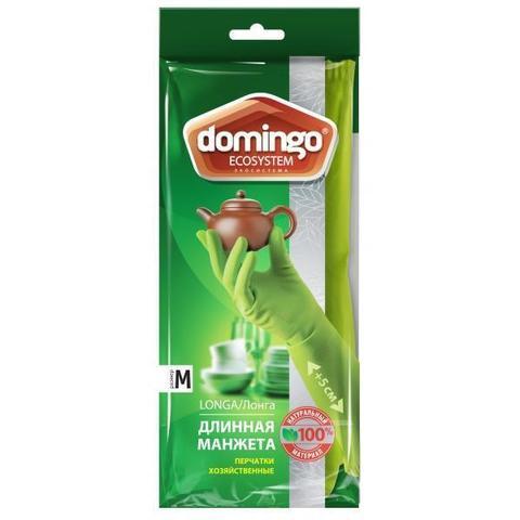 Перчатки хозяйственные Domingo L длинная манжета,латекс