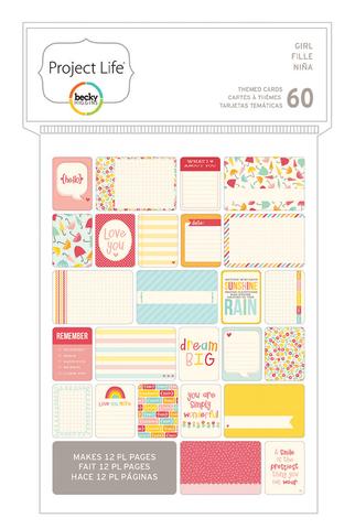 Маленький набор карточек Project Life - PL THEMED CARDS 60PK- Girl