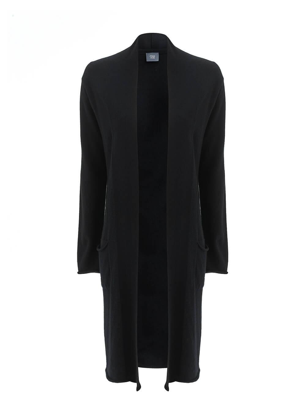 Женский кардиган черного цвета из 100% кашемира - фото 1