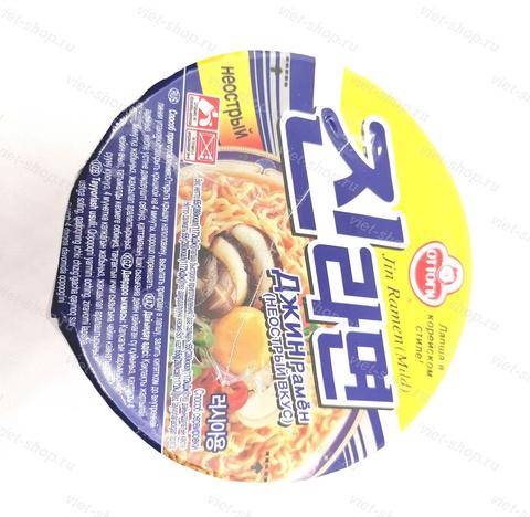 Корейская пшеничная лапша со вкусом грибов, Оттоги (Ottogi), 65 гр.