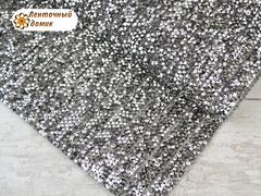 Полоса со стразами на силиконовой основе серое серебро