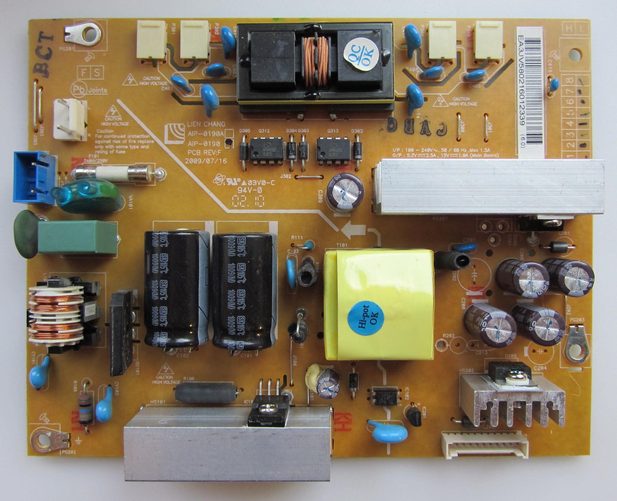 AIP-0190 PCB REV:F