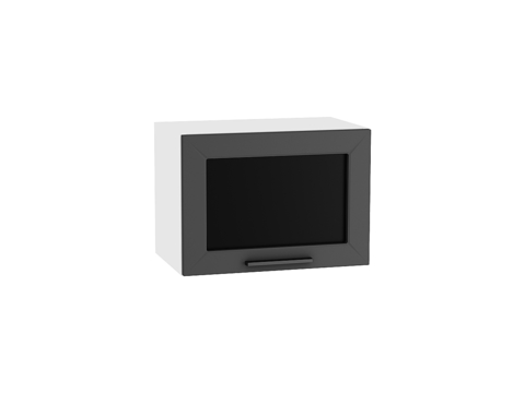Шкаф верхний горизонтальный остекленный 500 Глетчер (Маренго Силк)