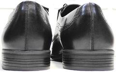Кожаные туфли мужские из натуральной кожи Ikoc 3416-1 Black Leather.