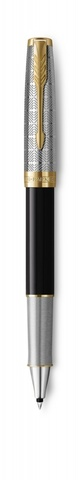 Ручка-роллер Parker Sonnet Premium Refresh BLACK, цвет чернил Fblack, в подарочной упаковке123