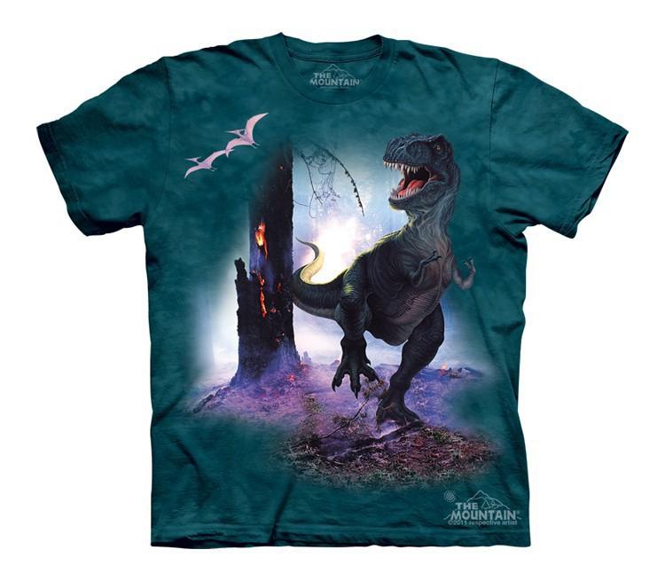 Футболка детская Mountain с изображением динозавра - Rex