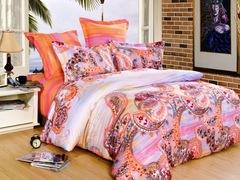 Сатиновое постельное бельё  1,5 спальное Сайлид  В-130