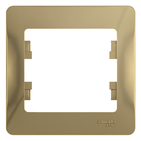 Рамка на 1 пост. Цвет Титан. Schneider Electric Glossa. GSL000401
