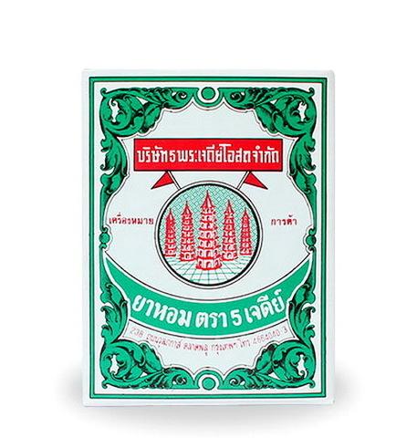 Тайский порошок на основе трав Я-хом «5 пагод», Ya Hom Powder Five Pagodas, 25 гр