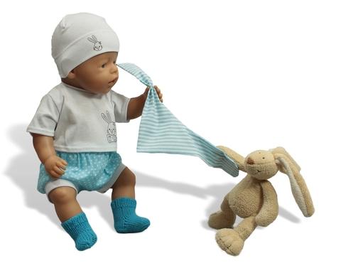 Комплект с подгузником - На кукле. Одежда для кукол, пупсов и мягких игрушек.