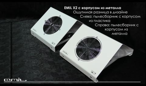 Пылесос EMIL настольный Х2 60Вт металл