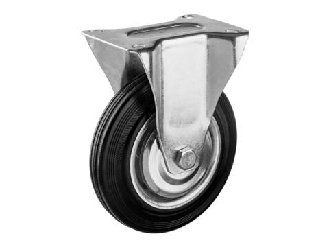 Колесо неповоротное d=125 мм, г/п 100 кг, резина/металл, игольчатый подшипник, ЗУБР Профессионал