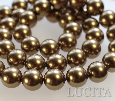 5810 Хрустальный жемчуг Сваровски Crystal Antique Brass круглый 6 мм, 5 штук (Crystal Antique Brass 1)