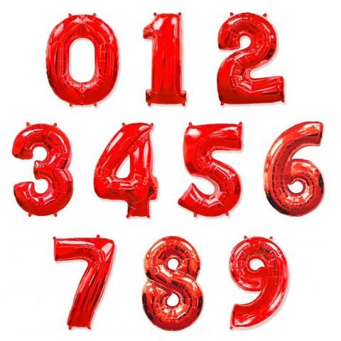 Фольгированные цифры красные