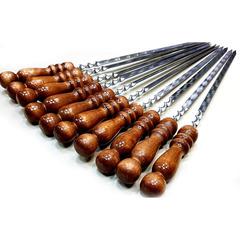 Шампур с деревянной ручкой, 45см