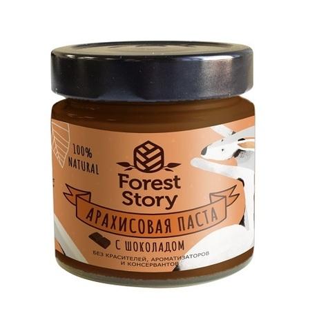 Паста арахисовая с шоколадом / Forest Story / 180 г
