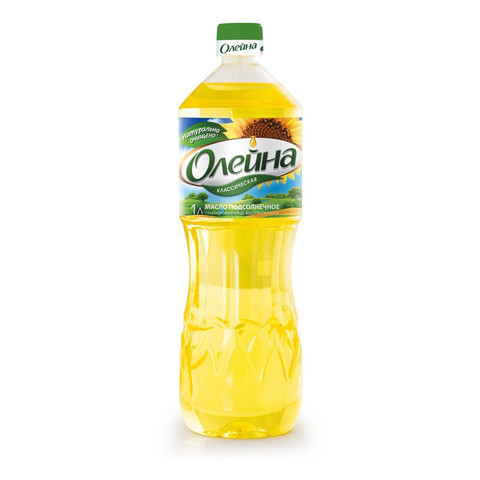 Масло Олейна подсолнечное рафинированное 1 л