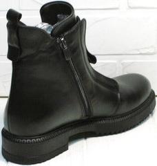 Черные осенние ботинки на низком каблуке Tina Shoes 292-01 Black.