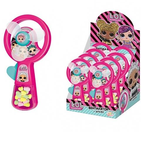 LOL Драже с игрушкой Вентилятор ручной 1кор*6бл*8шт, 5г.