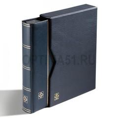 Альбом для марок PREMIUM на 64 страницы формата A4. Смягченная кожаная обложка, с шубером (защитной кассетой). Цвета в ассортименте