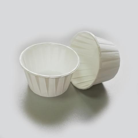 Бумажные капсулы усиленные для капкейков 5*6 h=4 белые, 10 шт
