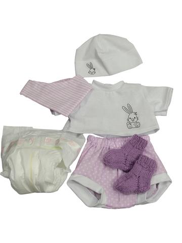 Комплект с подгузником - Сиреневый. Одежда для кукол, пупсов и мягких игрушек.