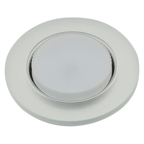 DLS-L158 GX53 CHROME/MATT CLEAR Светильник декоративный встраиваемый, серия Luciole. Без лампы, цоколь GX53. Доп. светодиодная подсветка 4Вт. Металл/стекло. Хром/матовый+прозрачный. ТМ Fametto