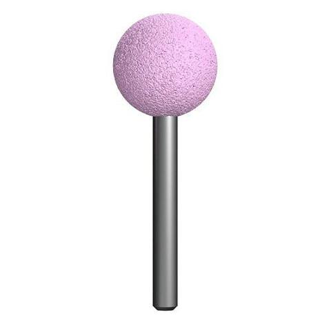 Шарошка абразивная ПРАКТИКА оксид алюминия, шарообразная 25 мм, хвост 6 мм, блистер (641-138)