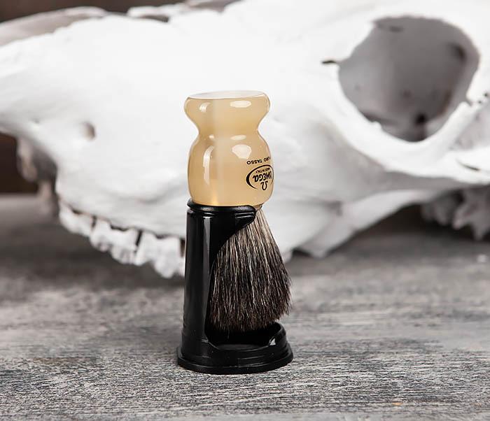 RAZ63171 Помазок из барсучего волоса на пластиковой подставке фото 03