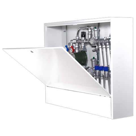Шкаф распределительный наружный STOUT - 651x1150x180 мм (с внутренней дверцей)