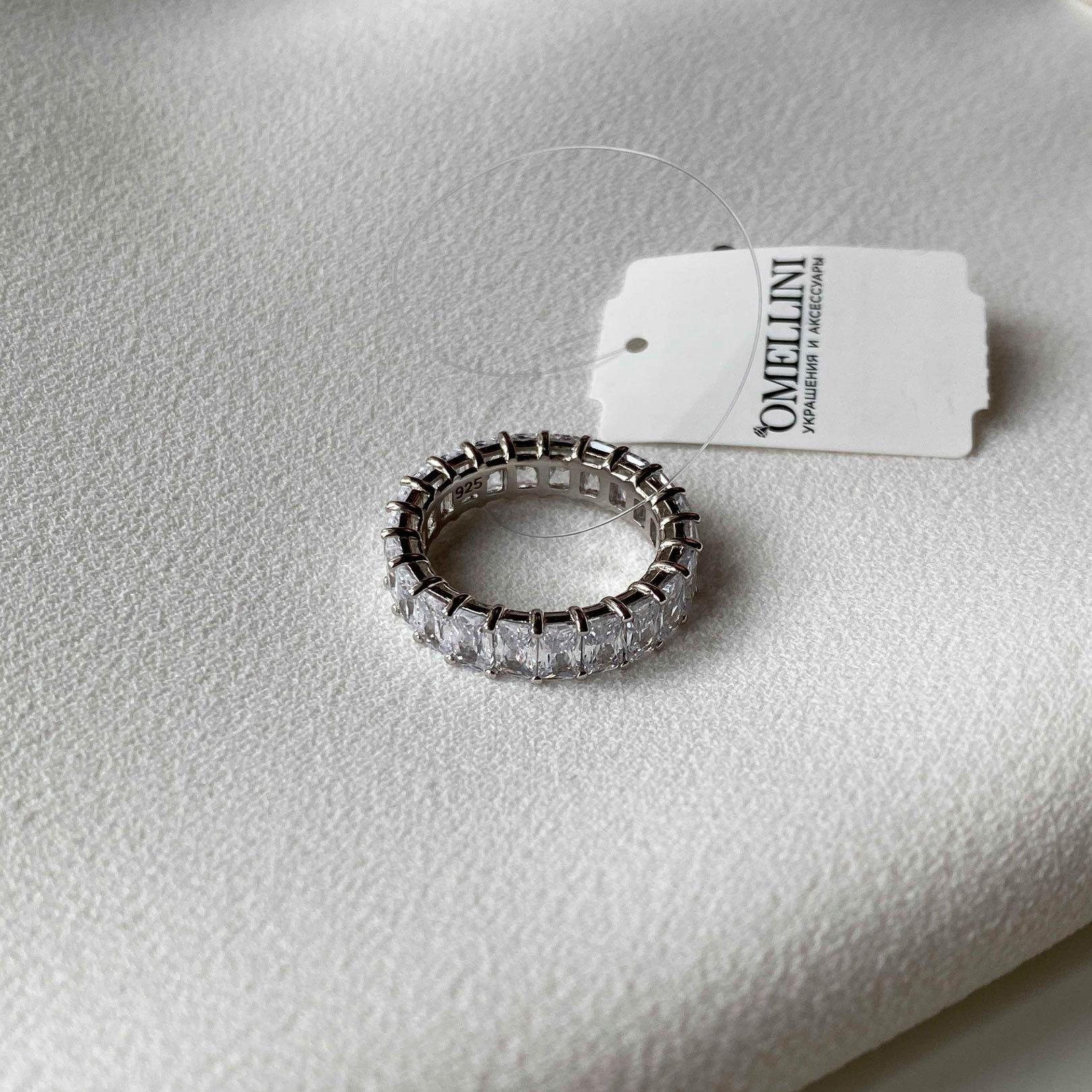 Кольцо-дорожка с багетными цирконами (серебро 925)