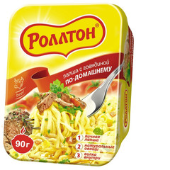Лапша Роллтон по-домашнему со вкусом говядины 90 г