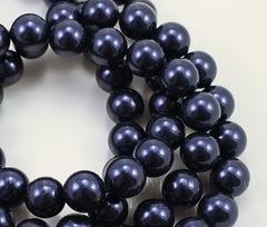5810 Хрустальный жемчуг Сваровски Crystal Night Blue круглый 8 мм, 5 шт