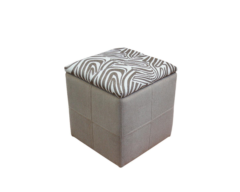 Пуф Квадрат с ящиком, обивка ткань
