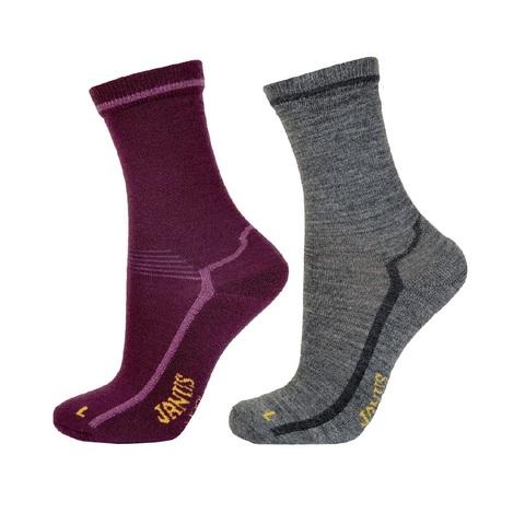 Детские шерстяные носки Janus цвет лиловый, серый