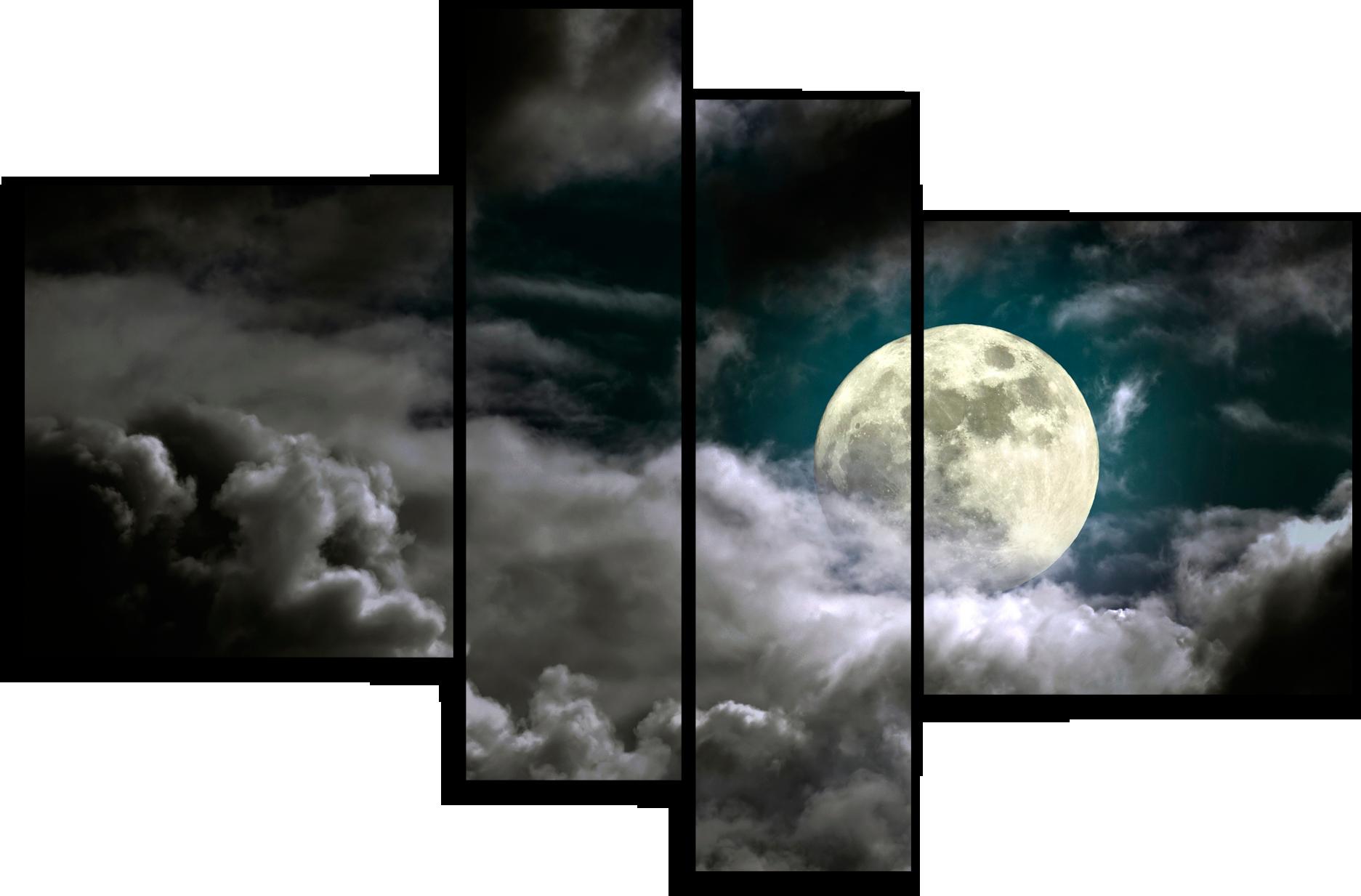 """Природа Модульная картина """"Полнолуние"""" М687.png"""