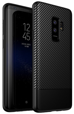 Ультра тонкий чехол на Samsung Galaxy S9 плюс под карбон, серии Fit от Caseport