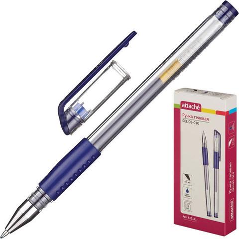 Ручка гелевая Attache Gelios-010 синяя (толщина линии 0.5 мм)