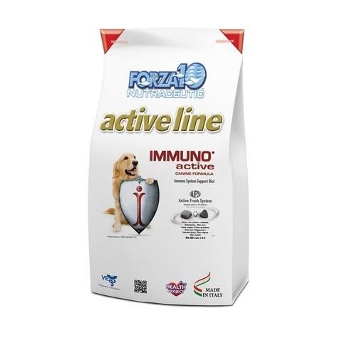 купить FORZA10 ActiveLine DOG Immuno Active сухой корм для взрослых собак всех пород для укрепления иммунитета и очищения организма от токсинов