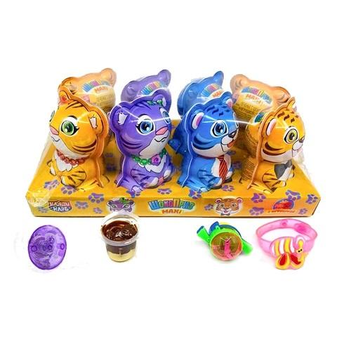 Печенье с шоколадной пастой и игрушкой ШОКОПРИЗ MAXI (Тигры)  1кор*6 бл*8шт.20гр