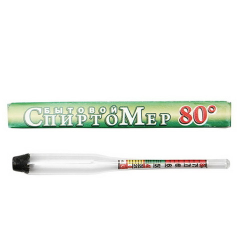 Ареометр-спиртомер 0-80%