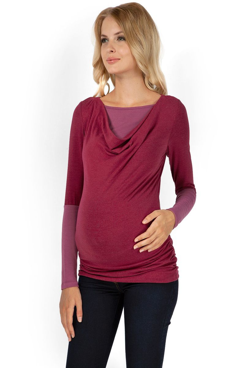 Блузка для беременных и кормящих 07210 бордовый