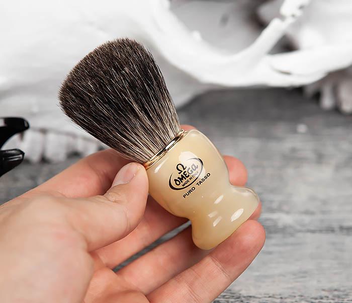 RAZ63171 Помазок из барсучего волоса на пластиковой подставке фото 05