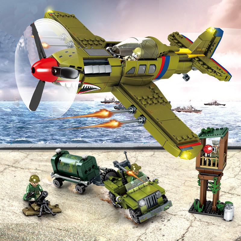 Конструктор серия Армия Военный самолет