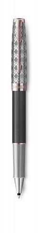 Ручка-роллер Parker Sonnet Premium Refresh GREY, цвет чернил Fblack, в подарочной упаковке123
