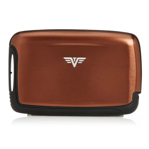 Визитница c защитой Tru Virtu Pearl, кофейный , 104x67x17 мм