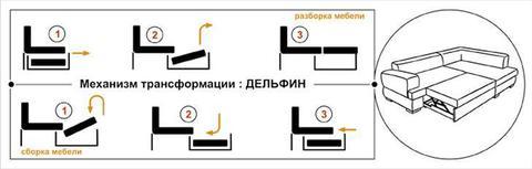 угловой диван Виктория 3-1 комфорт